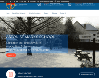 Aston St Marys Primary school website